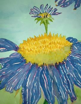 Blue Coneflower by Sandra Woods
