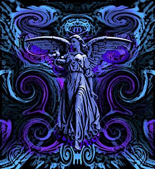 Blue Cosmic Angel by Stephen Humphries