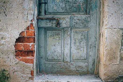 Blue Croatian Door by Eric  Bjerke Sr