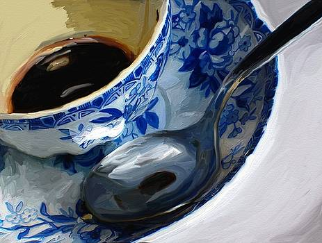 Blue Cup by Patti Siehien