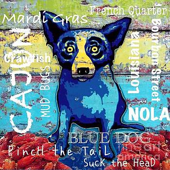 Blue Dog by Dawn Bearden