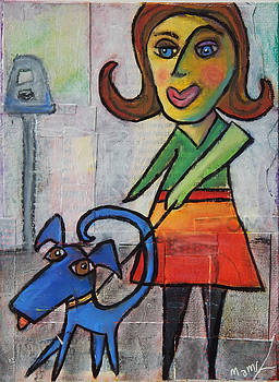 Blue Dog by Mary Conner