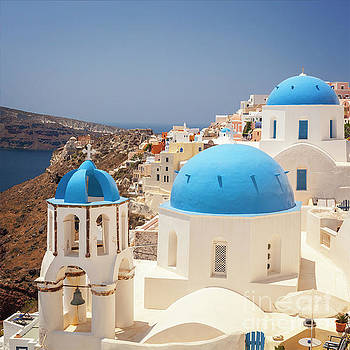 Sophie McAulay - Blue domed churches Santorini