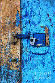James Brunker - Blue Door and Padlocks 1