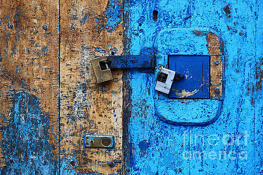 James Brunker - Blue Door and Padlocks 2