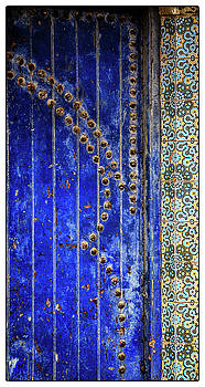 Blue Door in Marrakech by Marion McCristall