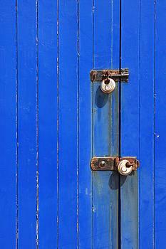 Blue Door Locks by Darren Kearney