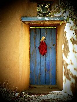 Blue Door With Chiles by Joseph Frank Baraba