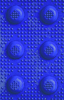 Blue Dots Industrial Portrait by Tony Grider