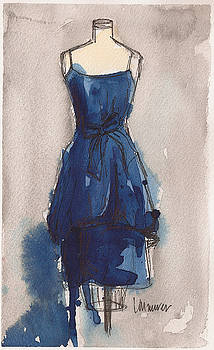 Blue Dress II by Lauren Maurer