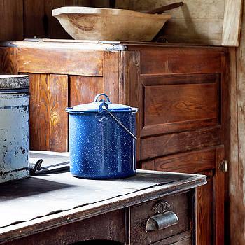 Lynn Palmer - Blue Enamel Stock Pot