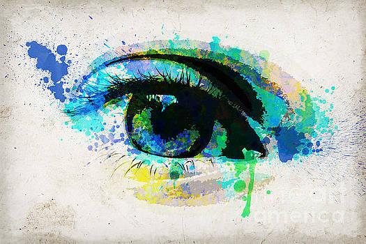 Delphimages Photo Creations - Blue eye watercolor