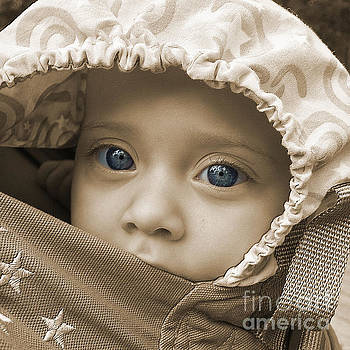 Blue Eyes in Sepia by Gregory Schultz