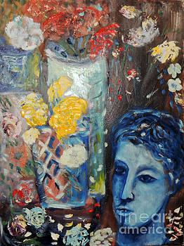 Blue face by Geraldine Liquidano