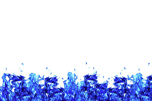 Blue fire gas wall by Lukasz Szczepanski