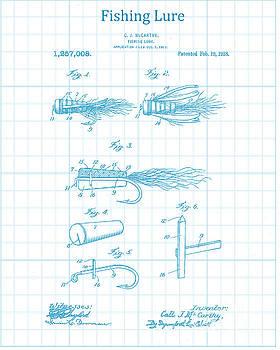 Blue Fishing Lure Patent by Jennifer Capo