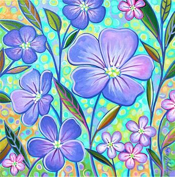 Blue Flax 2 by Peggy Davis