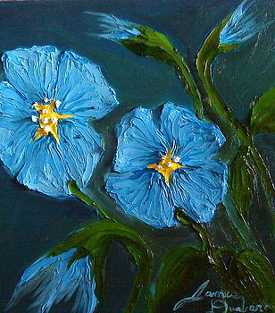 Blue Flax Flowers 1 by Portland Art Creations