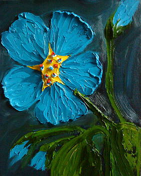 Blue Flax Flowers 5 by Portland Art Creations