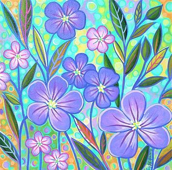 Blue Flax 1 by Peggy Davis