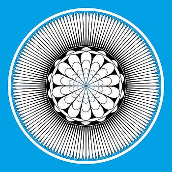 Blue Floral Design by Frank Tschakert