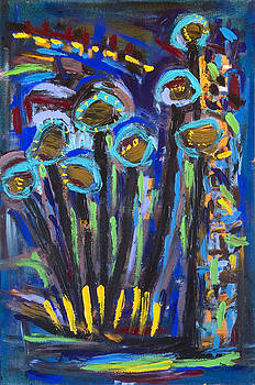 Blue Flower Abstract 1 by Maggis Art
