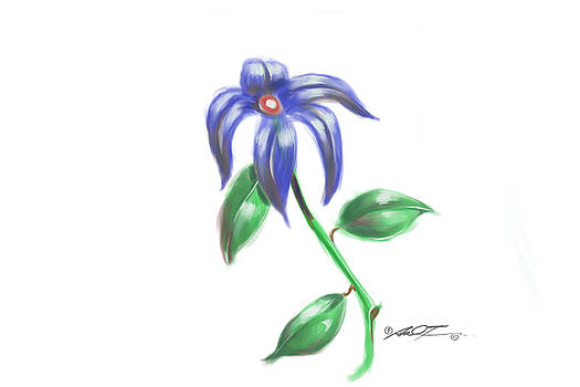 Blue Flower by Dale Turner