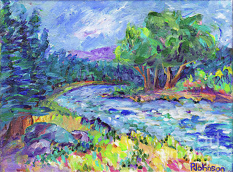 Blue Forest River by Peggy Johnson by Peggy Johnson