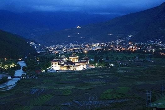 Blue Fort by Gyeltshen Dorji