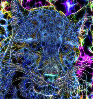 Blue fractalius Clouded Leopard by Photo Captures by Jeffery