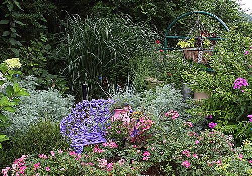Allen Nice-Webb - Blue Garden Bench