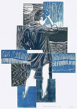 Blue Girl construction by Jennifer Harper
