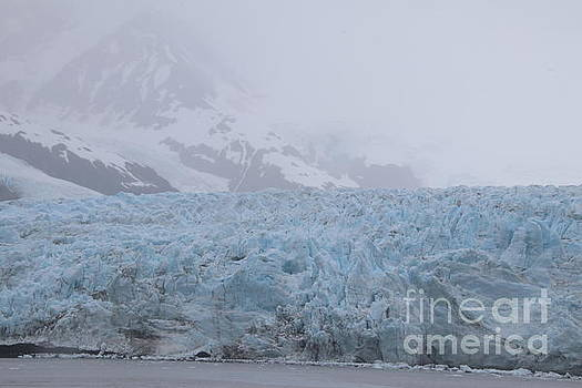 Blue Glacier in the Fog by Marisa Meisters