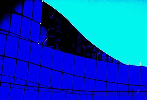 Blue Glass Abstract by Eric  Schiabor