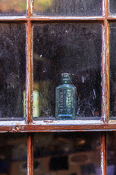 Blue Glass Bottle by Emily M Wilson