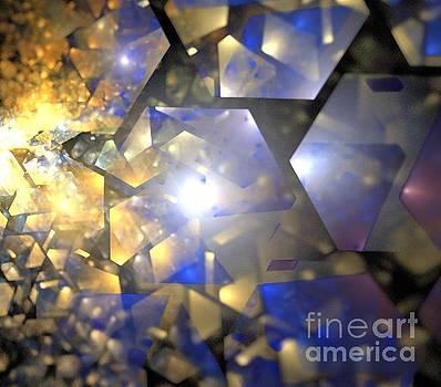 Blue Gold Crystals by Kim Sy Ok