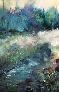 Blue Green Landscape by Michele Carter
