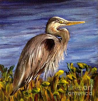 Blue Heron by Donna Muller