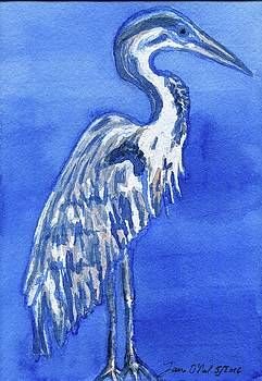 Blue Heron by Laura O'Neal