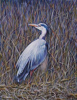 Blue Heron by LeRoy Jesfield