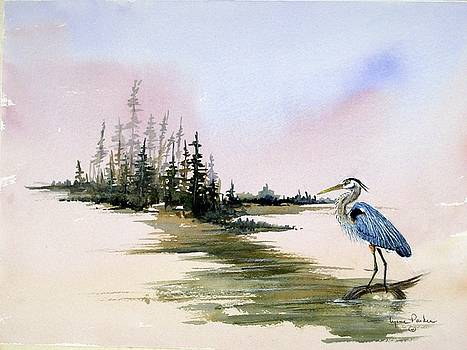 Blue Heron by Lynne Parker