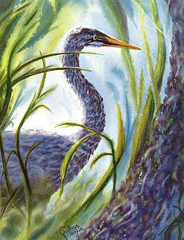 Blue Heron by Ramona Martin