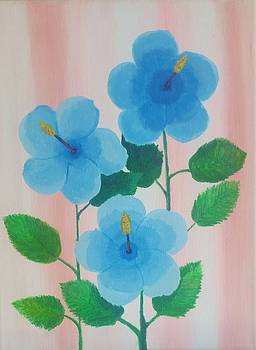 Blue Hibiscus  by Greg Roberson