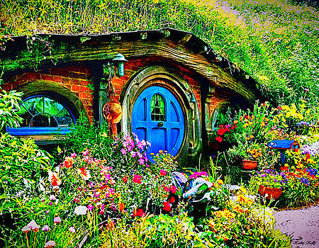 Kathy Kelly - Blue Hobbit Door