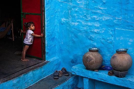 Blue Home by Marji Lang