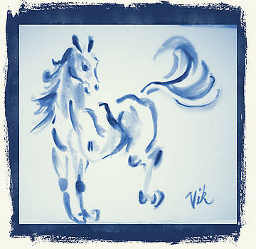 Blue Horse by Lyn Vic
