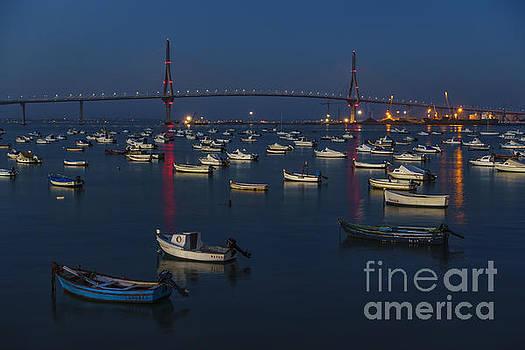 Blue Hour At 1812 Constitution Bridge From Puntales Cadiz Spain by Pablo Avanzini