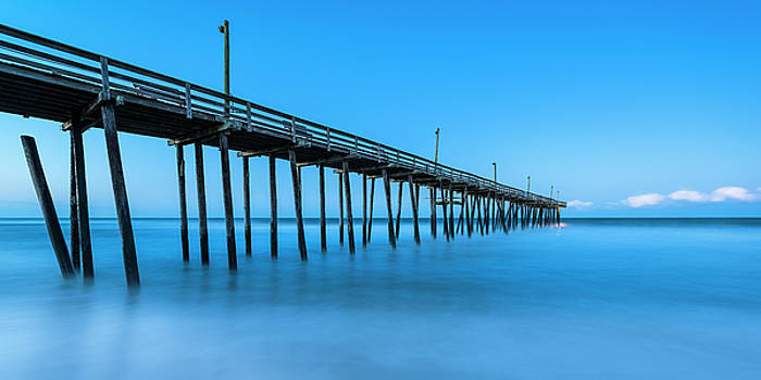 Ranjay Mitra - Blue Hour at Outer Banks Rodanthe Fishing Pier Panorama