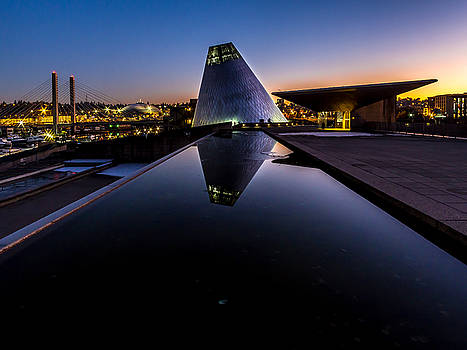 Blue Hour Reflections on Glass by Rob Green