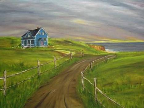 Blue House by Clara  Bierman